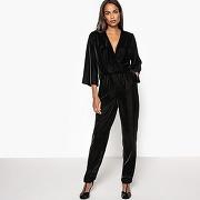 Combinaison pantalon velours noir