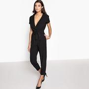 Combinaison pantalon, manches courtes noir