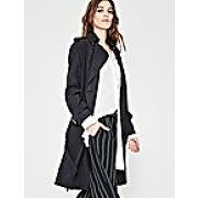 Trench fluide femme noir - promod-noir-44-manteaux - femme
