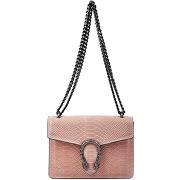 Isabella rhea-femme-sac en cuir rose pâle 16.5x23x7 cm-t.u
