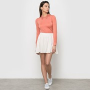 Jupe courte évasée blanc-blanc-40-femme > vêtements > jupe > mini-jupe