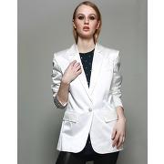 Pierre balmain-femme-blazer structuré en soie mélangée blanc perle-tf.38/ti.42