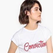 Tee-shirt message blanc