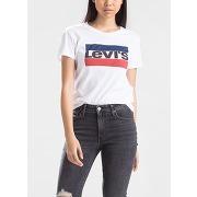 T-shirt sportswear logo the perfect tee blanc