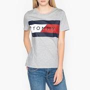 Tshirt col rond à imprimé devant gris