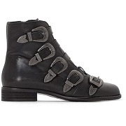 Boots cuir kenzie musse &cloud noir