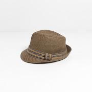 Chapeau de paille marron homme
