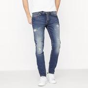 Soldes ! jean stretch coupe droite déchiré onsweft - masculin - bleu - only et sons
