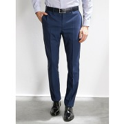 Pantalon costume homme travel suit bleu moyen uni