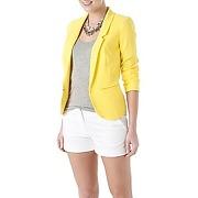 Veste tailleur jaune fluo