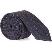 Cravate fine à pois