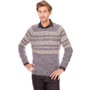 Pull en laine motif jacquard placé