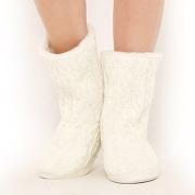 Chaussons en tricot beige - love josephine