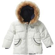 Manteau doudoune polaire blanc fille - levi's