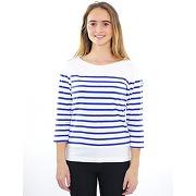 Tee-shirt femme lj807 blanc/bugatti