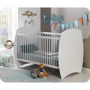 Lit bébé Évolutif rêve blanc avec matelas bébé