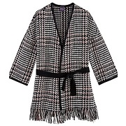 Veste kimono femme imprime gris - promod