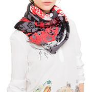 Foulard rectangle kis - rouge - femme - desigual - tailles disponibles: taille unique