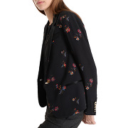 Veste tailleur imprimé floral - noir - femme - ikks - tailles disponibles: 34,36,40,42,44