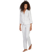 Pyjama à carreaux couleur gris - monoprix femme