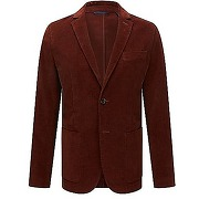 Veste slim fit en velours finement côtelé