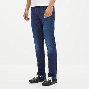 Soldes ! jean straight en coton stretch gocody15 - masculin - bleu - celio