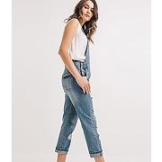 Salopette en jean femme jean moyen - promod