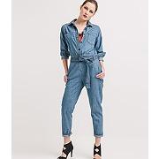 Combinaison-pantalon en jean jean moyen - promod