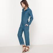 Combinaison pantalon en jean bleu - r studio