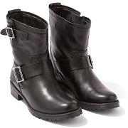 Boots motardes femme cuir lisse, ernzen - somewhere