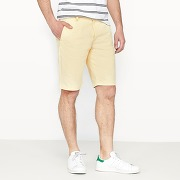 Soldes ! bermuda chino - masculin - jaune - la redoute collections