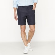 Soldes ! bermuda chino mélange lin - masculin - bleu - la redoute collections