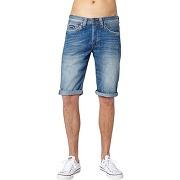 Soldes ! bermuda used pepe jeans, cash short - masculin - bleu - pepe jeans