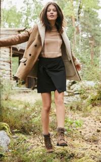manteau peau lainée femme