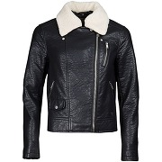 Soldes ! blouson femme style motard simili cuir - feminin - noir - lpb woman