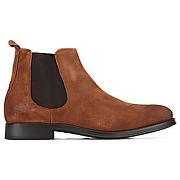 Boots selected shdoliver suede chelsea cognac homme
