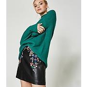 Mini-jupe effet cuir femme noir - promod