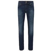 Jeans regular fit en denim stretch délavé