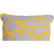Verdon, coussin 45 x 45cm, gris et jaune-multicolore