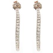 Colors-femme-boucles d'oreilles demi créoles scintillantes argent & crystal-t.u