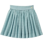 Jupe fille en broderie anglaise