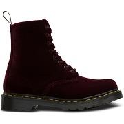Boots pascal velvet rouge bordeaux