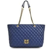 Cabas super quilted pour femme bleu love moschino