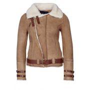 Goosecraft veste en cuir beige