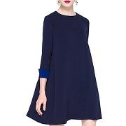 Doux col rond a-line manches 3/4 robe pour les femmes enceintes