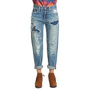Jeans denim&supply 5pt high rise bf boyfriend bleu femme pour femme