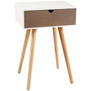 Table de chevet 1 tiroir - zenon-l 40 x l 30 x h 61