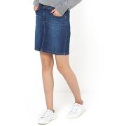 Jupe en jean stretch bleu - r essentiel