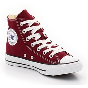 Baskets ctas core hi, bordeaux rouge femme - converse