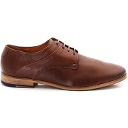 Derbies en cuir, à lacets orange - kost